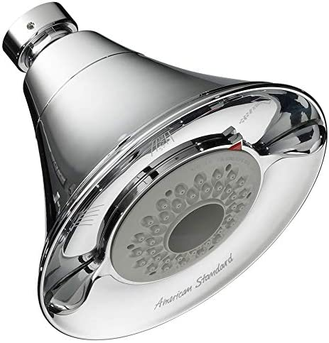 American Standard 1660.718.002 Flowise Transitional 3-Function Vandal Resistant Water Saving Showerhead, Polished Chrome