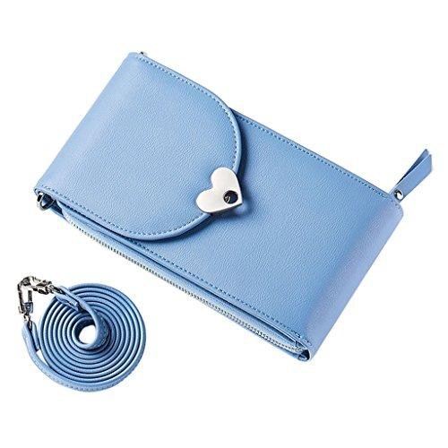 7x7x16cm Azul Light Perro diseño niños Rabbit Dabixx de Bandolera Long Claro Color Azul para Ear 3 69x2 75x6 Blue 6 Bolso fWOfwZqR