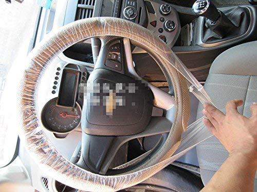 para fundas de pl/ástico desechables universales 100 unidades Funda para volante de coche