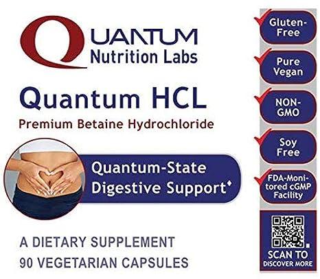 Amazon.com: Quantum HCL, 90 Cápsulas vegetarianas (Betaine ...