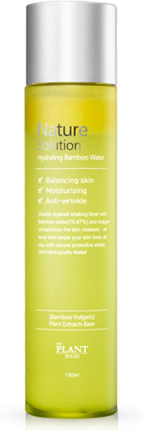 The Plant Base Nature Solution Hydrating Bamboo Water 150ml Hydrating Facial Toner