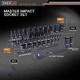 TACKLIFE 3/8'' Drive Socket Set, 46 Pieces Socket