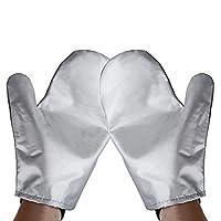 Vaporizador de ropa Guantes de planchado Mitt Tingtio Guantes anti vapor Resistente al calor resistente al calor Guante de planchado impermeable para vaporizador de ropa Silver-1 par