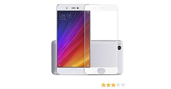 Funnytech® Cristal Templado para Xiaomi Mi5S Plus Blanco [Cubre el ...