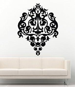 Damask Wall Decals Baroque Wallpaper Interior Vinyl Decor Stickers MK0774