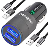 Meagoes Fast USB C Car Charger, Compatible Samsung Galaxy S10 Plus/S10/S10e/S9 Plus/S9/S8, Note