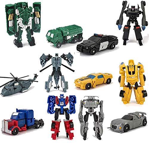 HAYUL 6 PCS Transform Toy,Car Robot Toys, Mini Action Figure, Deformation Robot for Kids Boys 3~12