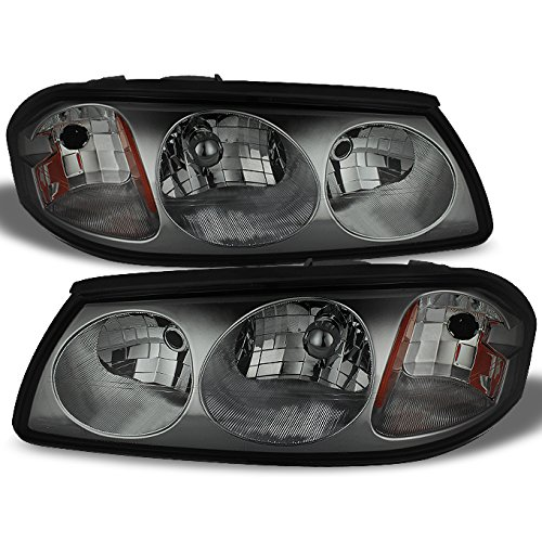 Chevy Impala Smoke OE Replacement Headlights Front Headlamps Driver/Passenger Left + Right Pair New