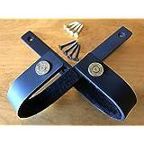 VERDICT BRACKETS Wall Mount Gun Racks Gun Hooks Shotgun Hooks Rifle Hangers Storage (1 Pair) (30-06 Brass Edition) Felt Lined, Black, Mounting Screws & Instructions Included