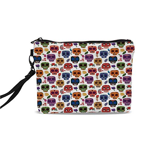 Day Of The Dead Decor Simple Cosmetic Bag,African