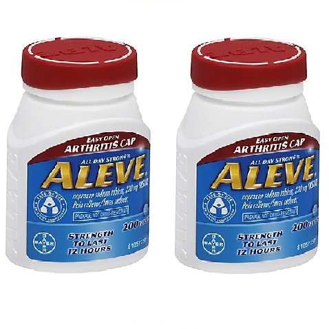 - Aleve Easy Open Arthritis Cap Caplets with Naproxen Sodium, 220mg (NSAID) Pain Reliever/Fever Reducer, 200Count - 2 Packs