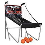 HLC Sports Double Shot Indoor Electronic Shooting Machine, Two Players Basketball Stand