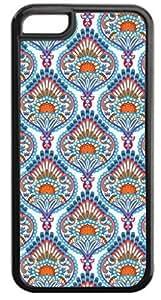 01-Ornate Paisley Case for the APPLE iphone 6 plus, 6 plus-NOT THE 6 plus!!!-Hard Black Plastic Outer Case with Tough Black Rubber Lining WANGJING JINDA