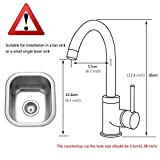 FLG Modern Single Handle Hot and Cold Water Kitchen Bar/Prep Sink Faucet Brushed Nickel