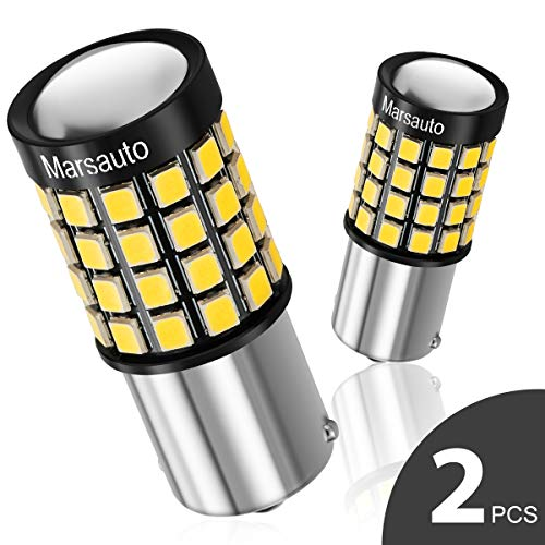 1156/7506/1141 LED Reverse Backup bulb,[2018 UPGRADED] Marsauto 52 SMD 3030/2835 Chipsets Back up Stop Tail Light Lamp Bulbs Replacement (Set of 2) ()