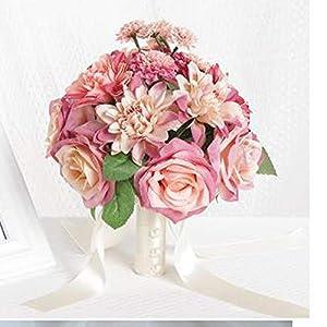 Bride Silk Flower Bride Holding Ribbon Wedding Bouquet Wedding Flower 9