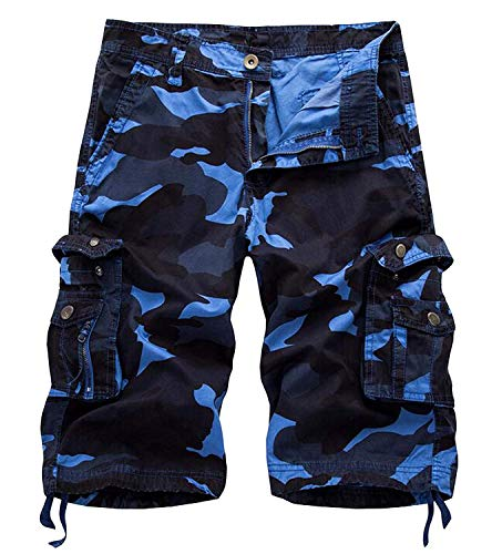 Relaxed fit Outdoor Blue Camouflage camo Cargo Size 32
