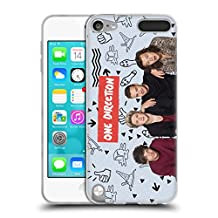 Official One Direction Blue Group Icon Soft Gel Case for Apple iPod Touch 5G 5th Gen