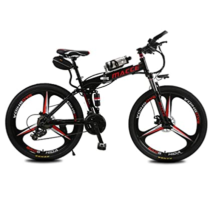 Lvbeis Adultos Bici Electrica de Montaña Plegable Bicicleta con Asistidas Al Pedaleo PortáTil E-Bike