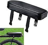 Hapeisy Bicycle Rear Seat Cushion, Bike Child Seat Back Safety Cushion, Bike Seat (Black) Bicycle Manned Cushi