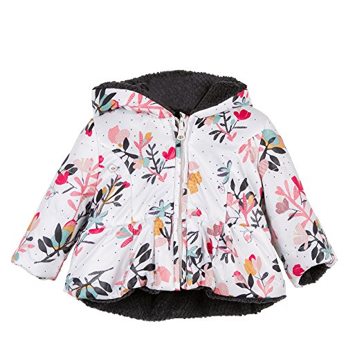 Catimini Floral & Charcoal Ma De Moi Zèle Reversible Jacket (2T) by Catimini