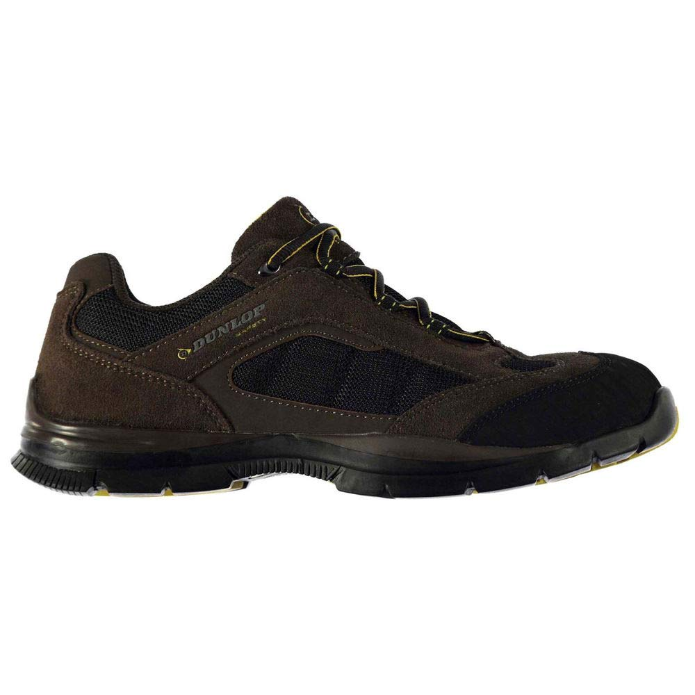 Dunlop Men's Safety Iowa Steel Toe Work Shoes Brown 10