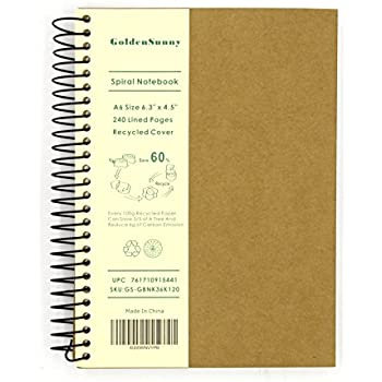 Amazon.com : Mead Recycled Spiral Notebook, 80 Sheets, College ...