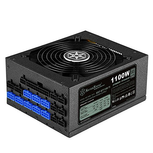 SilverStone Tek 1100 Watt ATX Power Supply with 80 Plus Titanium and Multi GPU Support SST-ST1100-TI by SilverStone Technology