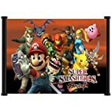 "1 X Super Smash Bros Brawl Game Fabric Wall Scroll Poster (25""x16"") Inches"