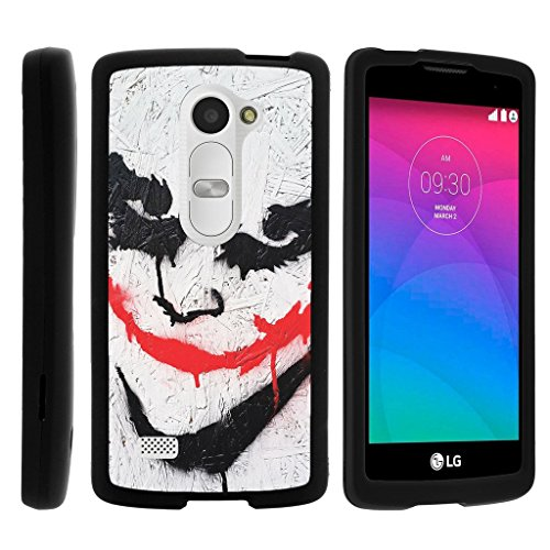 MINITURTLE Case Compatible w/ [LG Leon Case, LG Tribute 2 Case, LG Risio Case][Snap Shell] Hard Plastic Slim Fitted Snap on case w/Unique Designs Joker -