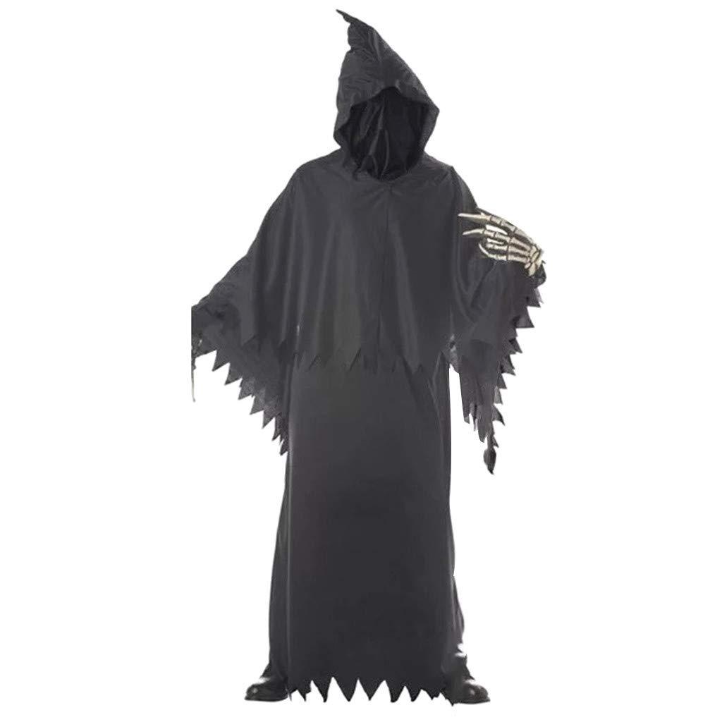 Grim Reaper Kids Boys Halloween Scary Horror Death Fancy Costume One Size Prop Phantom Kids Costume by Gunel (Black) by Gunel home