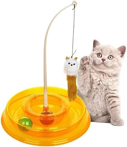 LUOSI Juguetes Creativos For Gatos De Mascotas Divertido Disco Redondo Ratones De Primavera Actividad De Juego Divertido Ratón Gato Juguetes Interactivos For Gatos Suministros For Mascotas: Amazon.es: Productos para mascotas