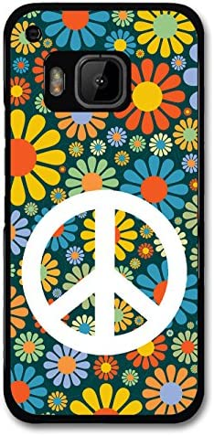 Peace Hipster Colourful Flowers Design