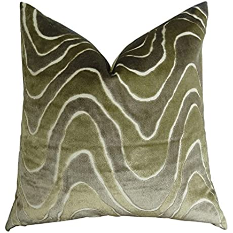 Plutus Brands Plutus Lush Wave Handmade Throw Pillow 26 X 26 Taupe Ivory Greige