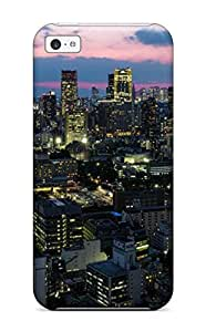 New Tokyo City Tpu Case Cover, Anti-scratch Phone Case For Iphone 5c 2047403K94059841 WANGJING JINDA