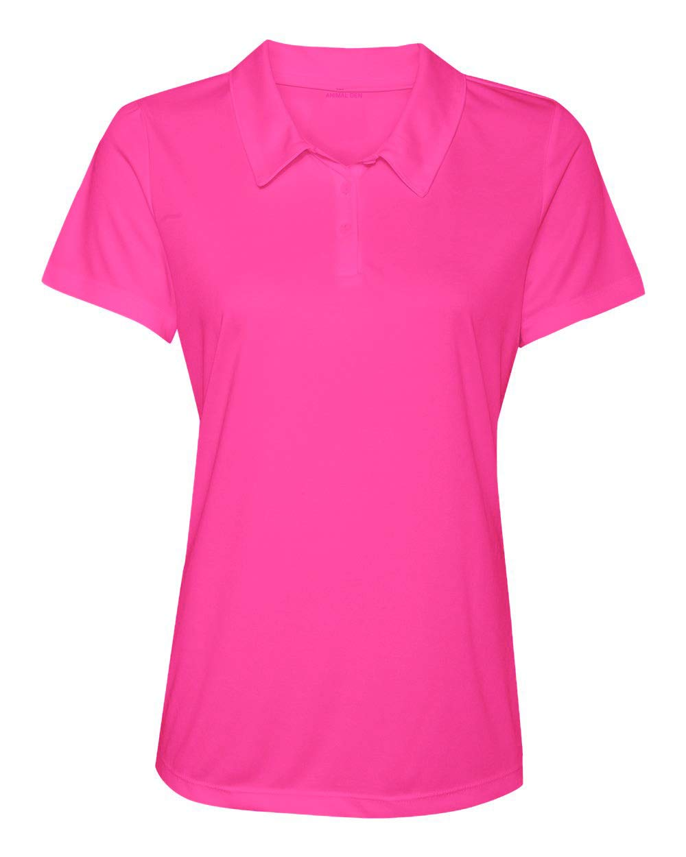 Women's Dry-Fit Golf Polo Shirts 3-Button Golf Polo's in 20 Colors XS-3XL Shirt Pink-XL by Animal Den