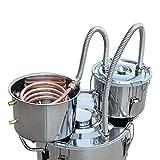 ECO-WORTHY 8 Gal 30 Liters 3 Pots Home Distiller Moonshine Alcohol Boiler Copper Home Brewing Kit with Thumper Keg Stainless Steel (30L Distiller 3 Pots)