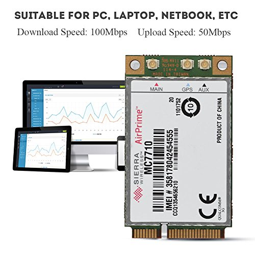 fosa High Performance Replacement 100Mbps + 50Mbps 4G LTE HSPA+ Wireless Module Card PCI-E PC/Laptop, Compatible OS Windows/Linux/ Android by fosa (Image #4)