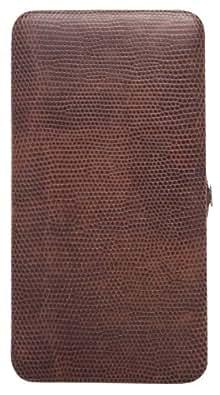 Metropolitan DESIGNER WALLET Hard Case (Brown Lizard)