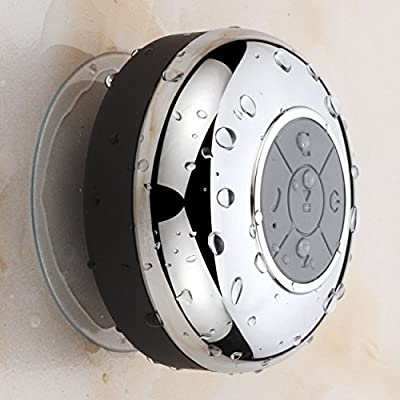 HotelSpa Chrome IPX4 Waterproof Bluetooth Shower Speaker from Interlink Products