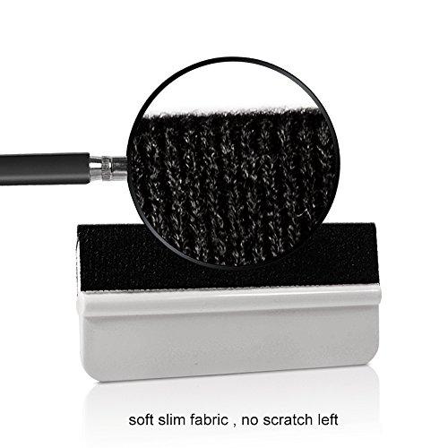 Ehdis 10PCS Soft Vinyl Wrap Tool Mini Window Tint Film Installing Squeegee Vinyl Film Applicator Scraper for Vinyl Wraps & Decals with Black Fabric Felt by Ehdis (Image #1)
