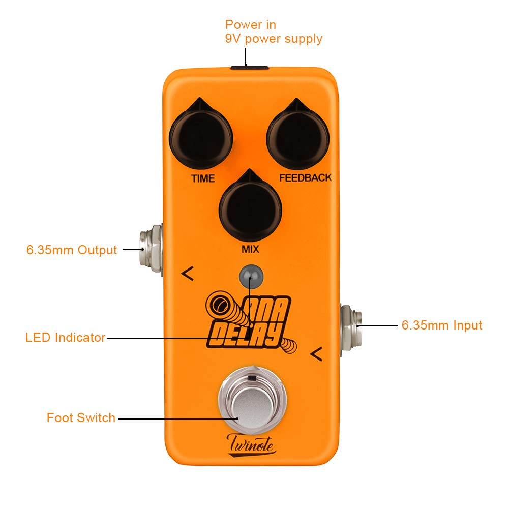 XuBa ギターペダル 800ms遅延時間付き 動的 連続サウンド タップテンポ機能 ギターアクセサリー   B07LBQVRKK
