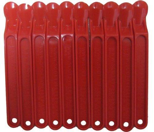 (Scotty Peeler - The Original Label & Sticker Remover (Set of 10 Red))