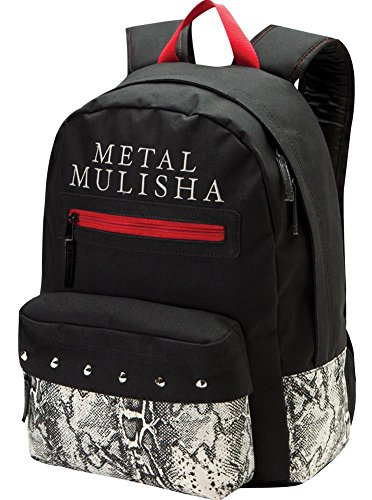 Amazon.com: Metal Mulisha Lush Black Red White Unisex Shoulder School Bag Backpack: Shoes