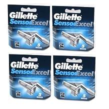 Gillette Sensor Excel Razor Cartridges 20 Pack /GENUINE
