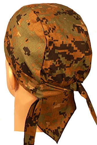 Green Digital Marpat Camo Camoflauge Sweatband Headwrap Doo Rag American Made US Headwrap Green Camo