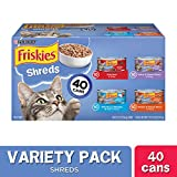 Purina Friskies Wet Cat Food Variety Pack, Shreds Beef, Turkey, Whitefish, and Chicken & Salmon - (40) 5.5 oz. Cans