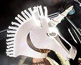 Unicorn Costume Mask. Handmade. Animal friendly fantasy masquerade mask party headdress with white holographic glitter.