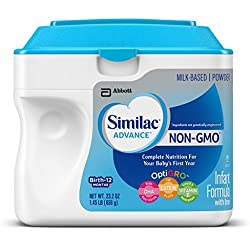 Similac Advance Non-GMO Infant Formula with Iron, Baby Formula, Powder, 23.2 Ounces (Pack of 6) (Packaging May Vary)