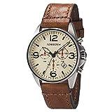 Torgoen T16 Cream Pilot Watch - Vintage Leather Strap